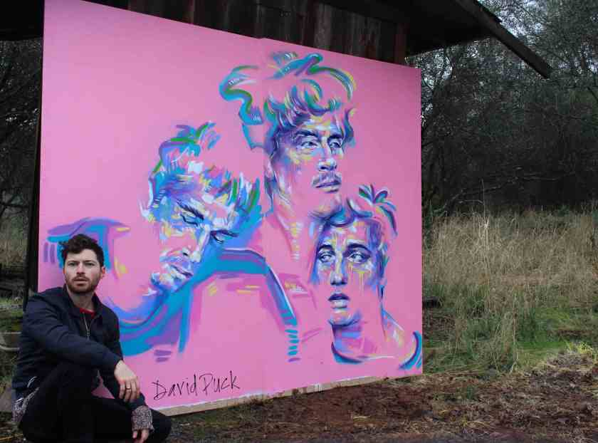 Queer street art mural by David Puck