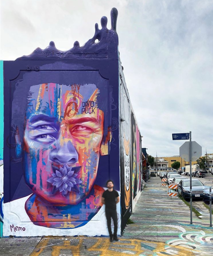 queer street art mural of homeless by David Puck, in Los Angeles California