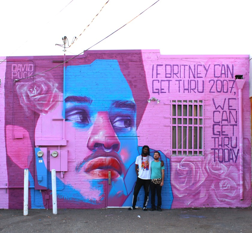 queer Street art mural of trans activist, by David Puck, in Sacramento California