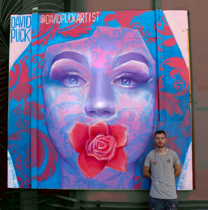 queer Street art mural of drag queen Tammie Brown, by David Puck, in Los Angeles California