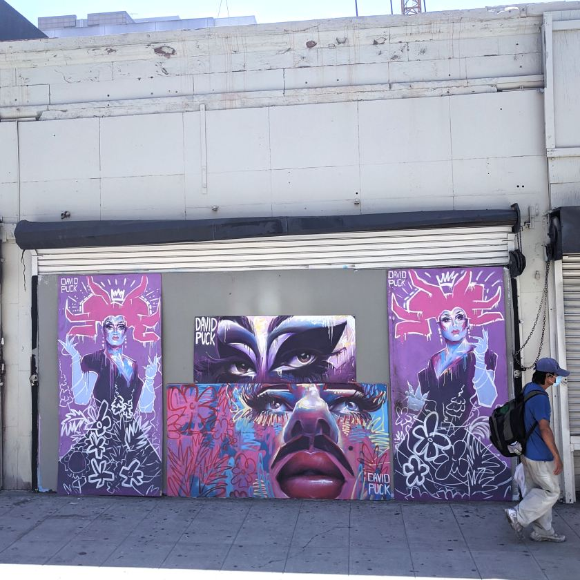 queer Street art mural of drag queens The Boulet Brothers by David Puck, in Los Angeles California